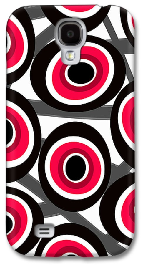 Fashion Spots Galaxy S4 Case featuring the painting Fashion Spots by Louisa Knight