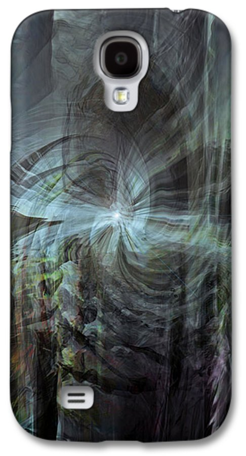 Abstract Galaxy S4 Case featuring the digital art Fear Of The Unknown by Linda Sannuti