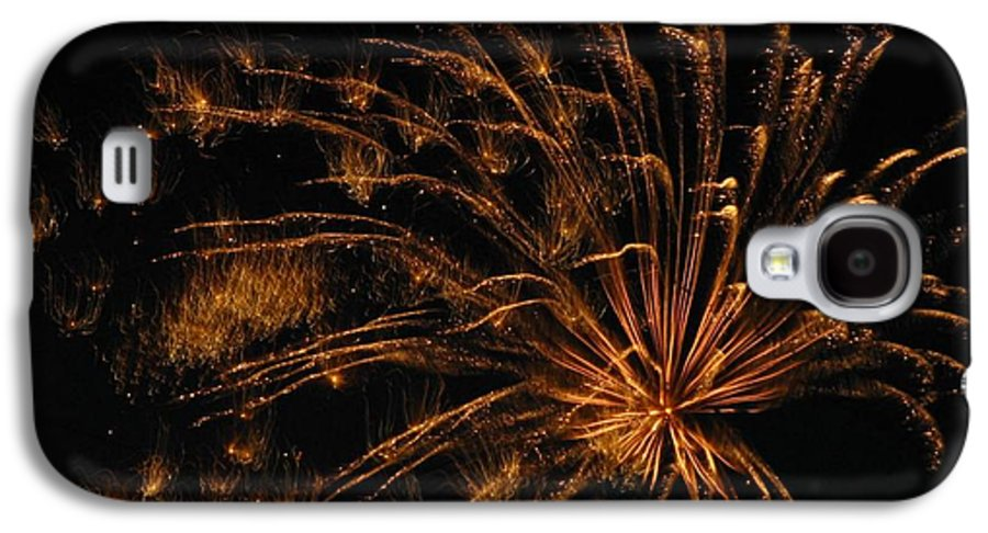 Fireworks Galaxy S4 Case featuring the photograph Fiery by Rhonda Barrett
