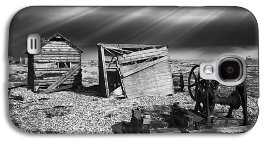 Boat Galaxy S4 Case featuring the photograph Fishing Boat Graveyard 4 by Meirion Matthias