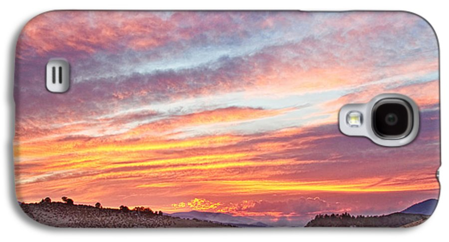 High Park Wildfire Galaxy S4 Case featuring the photograph High Park Wildfire Sunset Sky by James BO Insogna