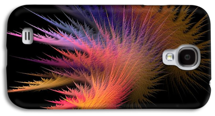 Abstract Digital Art Galaxy S4 Case featuring the photograph Jagged Edge by Lourry Legarde