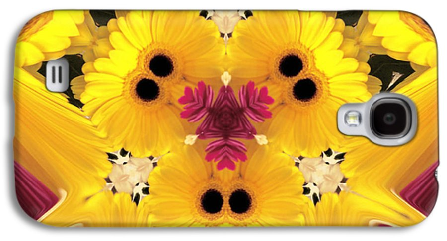 Abstract Flowers Images Galaxy S4 Case featuring the photograph Kitty Petals by Cheryl Young