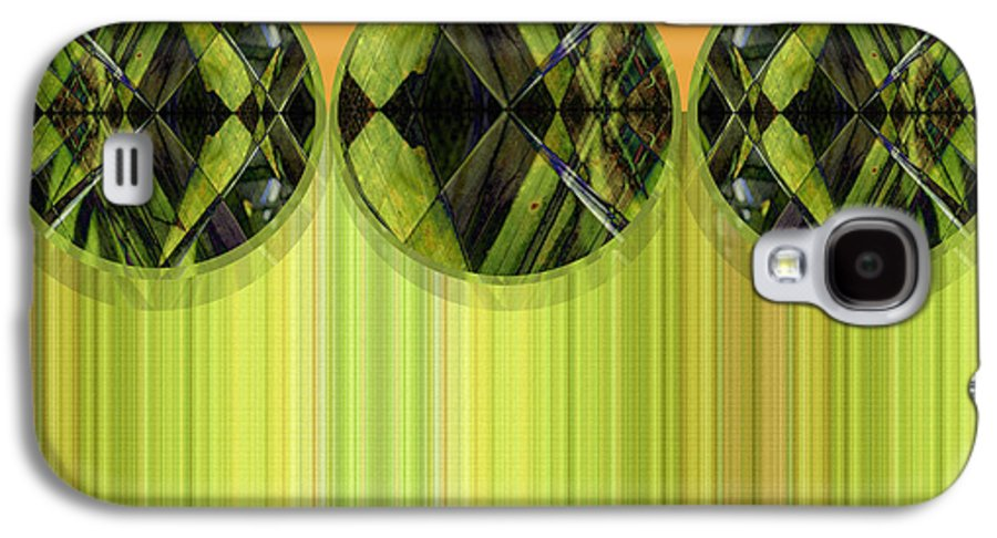 Abstract Galaxy S4 Case featuring the digital art Lime Delight by Ann Powell