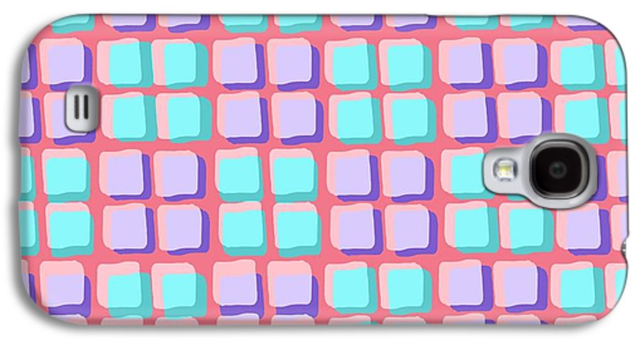 Louisa Galaxy S4 Case featuring the digital art Lots Of Squares by Louisa Knight