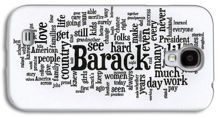 Michelle Obama Galaxy S4 Case featuring the photograph Michelle Obama Wordcloud At D N C by David Bearden