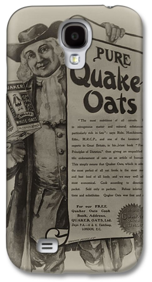 Pure Quaker Oates Galaxy S4 Case featuring the photograph Pure Quaker Oates by Bill Cannon