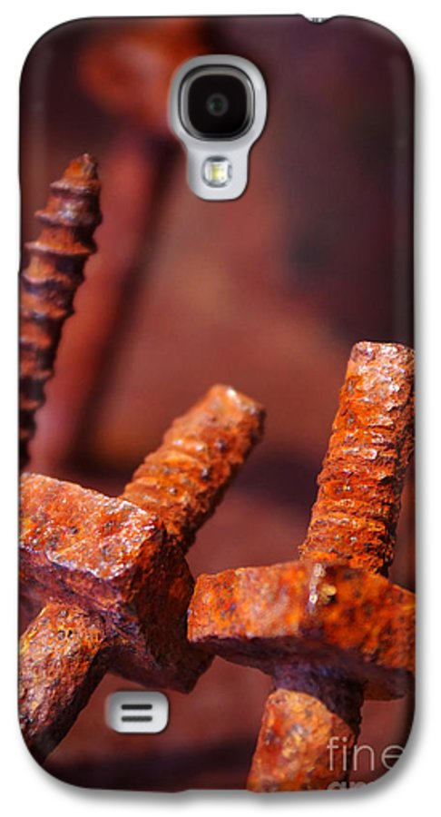 Bolt Galaxy S4 Case featuring the photograph Rusty Screws by Carlos Caetano