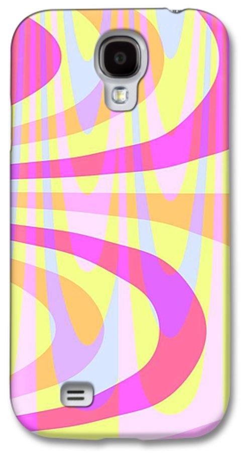 70's Swirls (digital) By Louisa Knight (contemporary Artist) Galaxy S4 Case featuring the digital art Seventies Swirls by Louisa Knight
