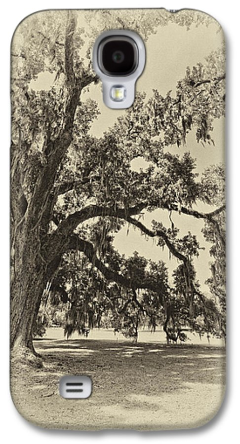 Evergreen Plantation Galaxy S4 Case featuring the photograph Southern Comfort Sepia by Steve Harrington