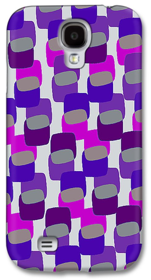 Louisa Galaxy S4 Case featuring the digital art Squares by Louisa Knight