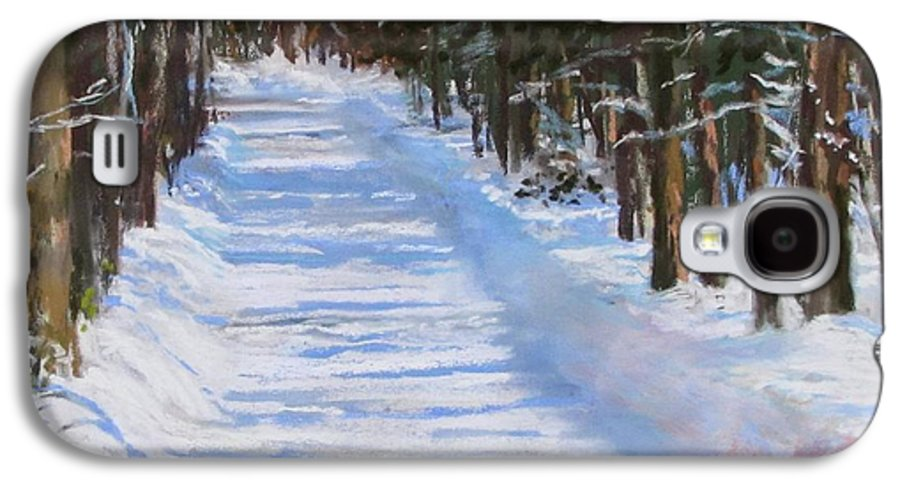 Snow Galaxy S4 Case featuring the painting The Valley Road by Jack Skinner