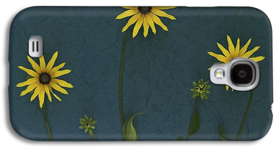 Arranged Galaxy S4 Case featuring the photograph Three Yellow Flowers by Deddeda