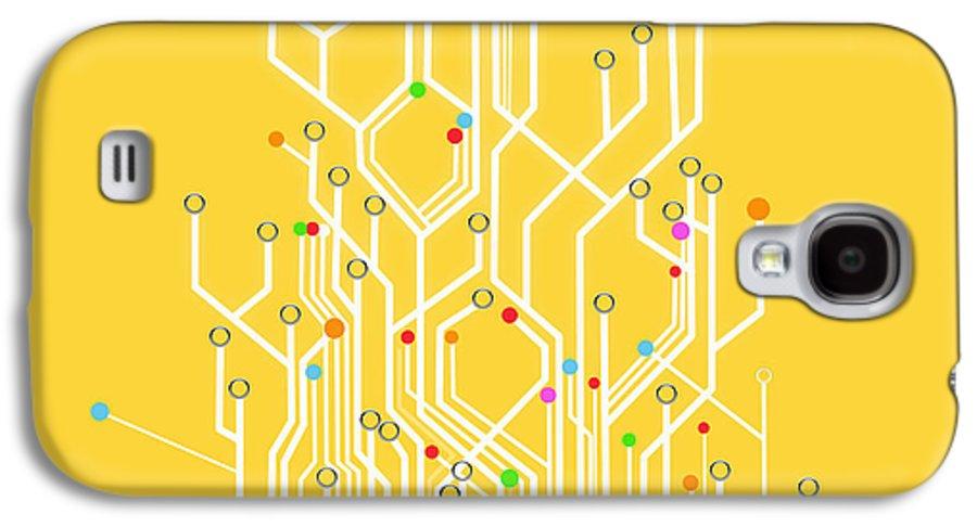 Abstract Galaxy S4 Case featuring the photograph Circuit Board Graphic by Setsiri Silapasuwanchai