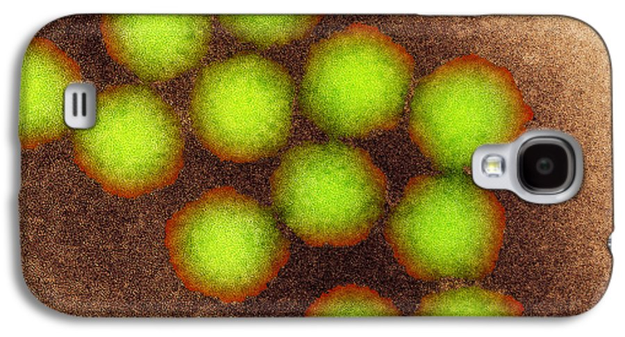 Poliovirus Galaxy S4 Case featuring the photograph Poliovirus Particles, Tem by Nibsc