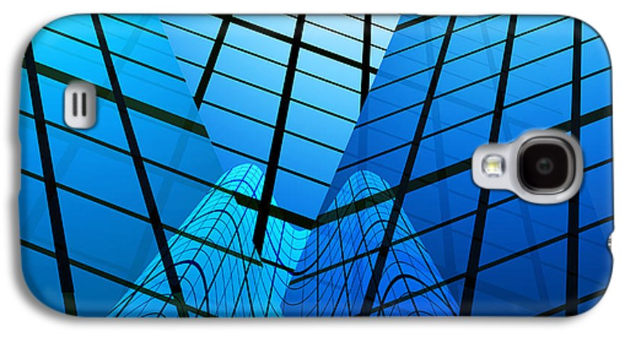 Abstract Galaxy S4 Case featuring the photograph Abstract Skyscrapers by Setsiri Silapasuwanchai