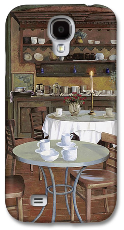Cafe Galaxy S4 Case featuring the painting Al Lume Di Candela by Guido Borelli
