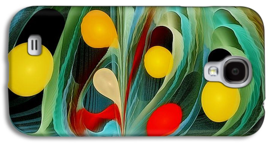 Fractal Galaxy S4 Case featuring the digital art An Infinite Potential by Gayle Odsather