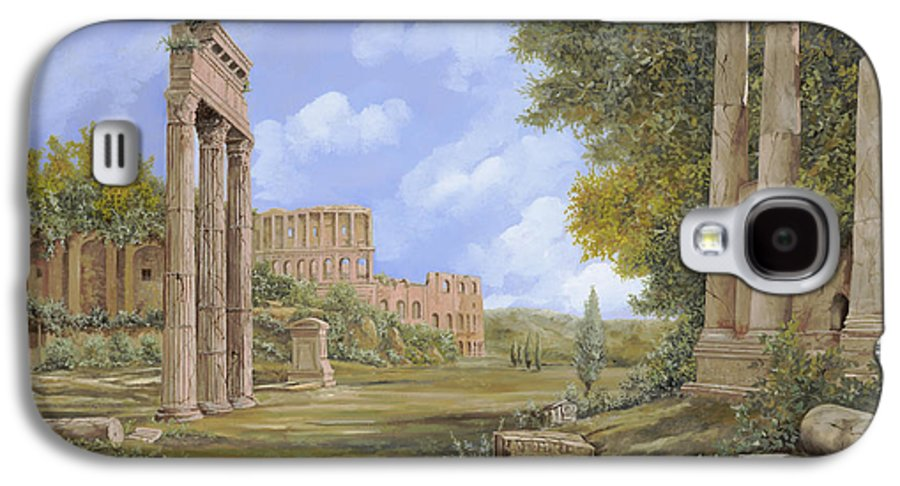Landscapes Galaxy S4 Case featuring the painting Anfiteatro Romano by Guido Borelli