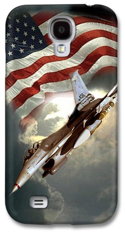Digital Photo Galaxy S4 Case featuring the painting American Feedom by Regina Femrite