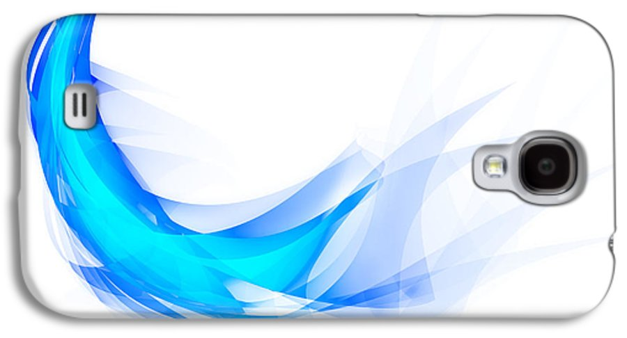 Abstract Galaxy S4 Case featuring the painting Blue Feather by Setsiri Silapasuwanchai