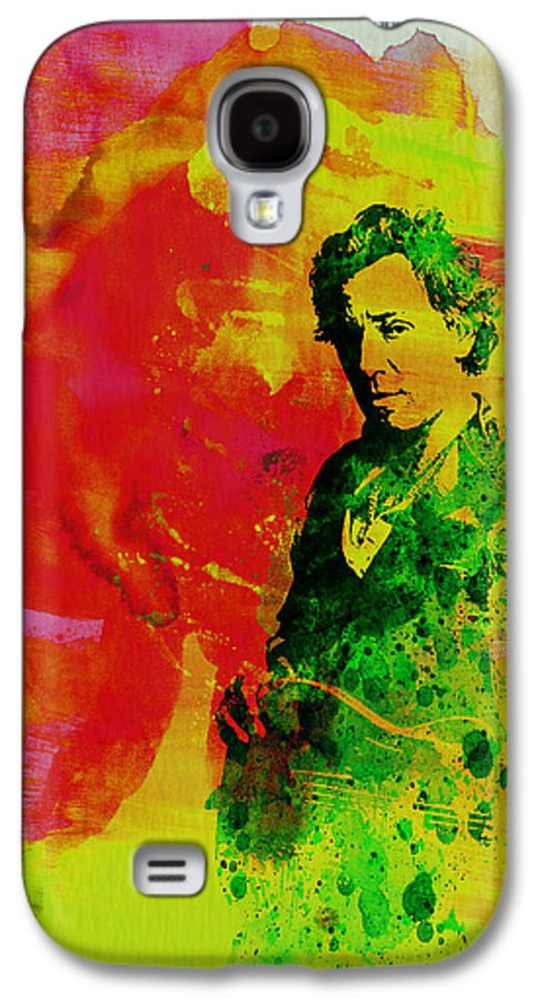 Bruce Springsteen Galaxy S4 Case featuring the painting Bruce Springsteen by Naxart Studio