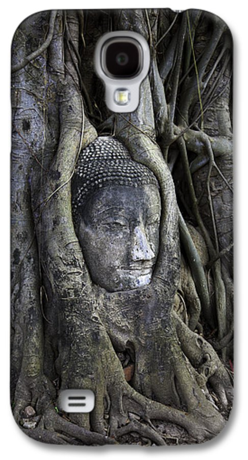 Ancient Galaxy S4 Case featuring the photograph Buddha Head In Tree by Adrian Evans
