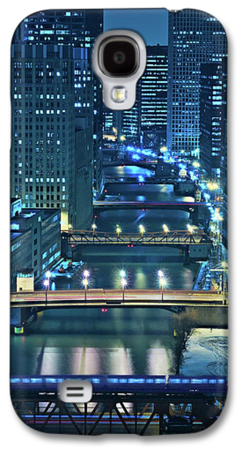 Chicago Galaxy S4 Case featuring the photograph Chicago Bridges by Steve Gadomski