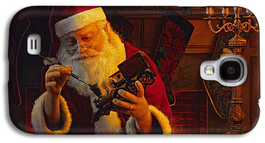 Christmas Galaxy S4 Case featuring the painting Christmas Eve Touch Up by Greg Olsen