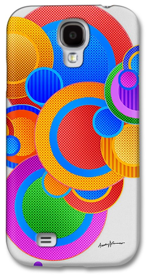 Abstract Galaxy S4 Case featuring the digital art Circles by Anthony Caruso