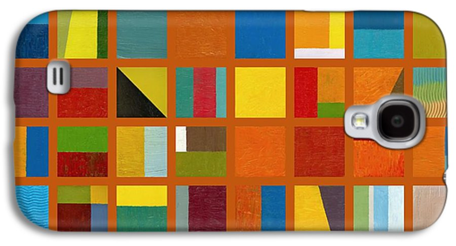 Abstract Galaxy S4 Case featuring the painting Color Study Collage 66 by Michelle Calkins