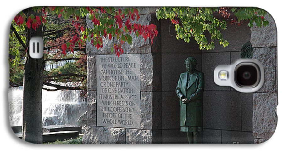 Capital Galaxy S4 Case featuring the photograph Eleanor's Alcove At The Fdr Memorial In Washington Dc by William Kuta