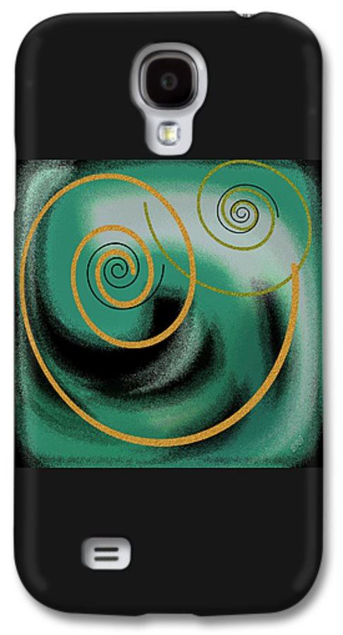 Abstract Galaxy S4 Case featuring the digital art Encounter by Ben and Raisa Gertsberg
