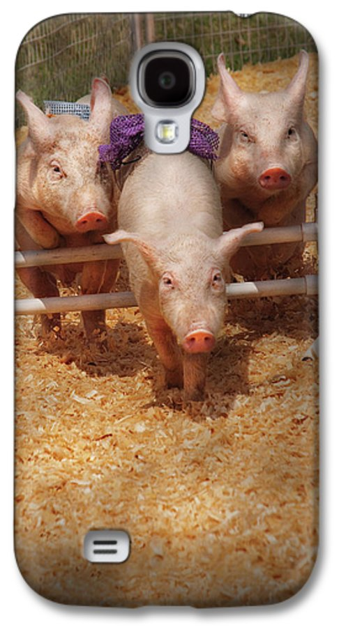 Pig Galaxy S4 Case featuring the photograph Farm - Pig - Getting Past Hurdles by Mike Savad
