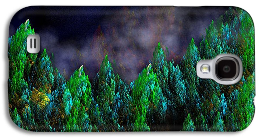 Abstract Digital Painting Galaxy S4 Case featuring the digital art Forest Primeval by David Lane