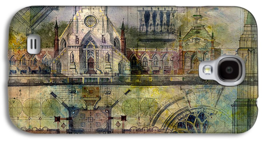 Gothic Galaxy S4 Case featuring the painting Gothic by Andrew King