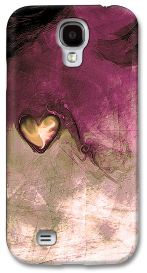 Heart Of Gold Galaxy S4 Case featuring the digital art Heart Of Gold by Linda Sannuti