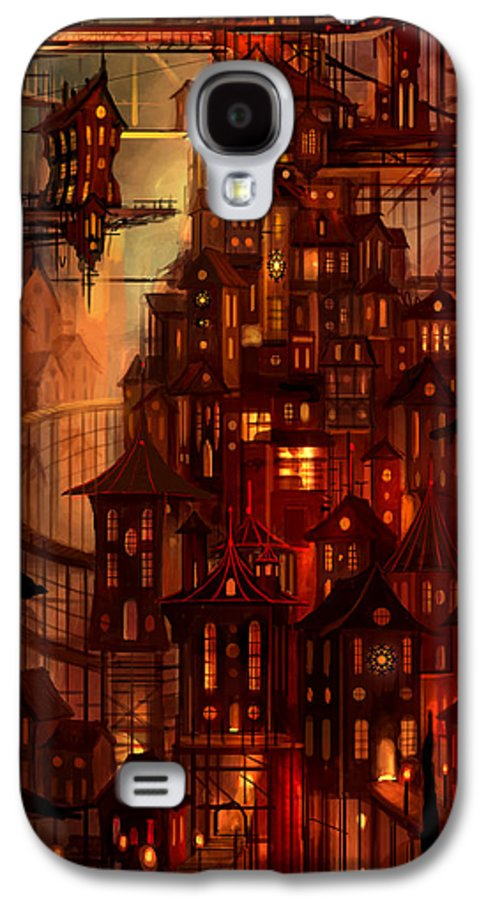Surreal Galaxy S4 Case featuring the painting Illuminations by Philip Straub