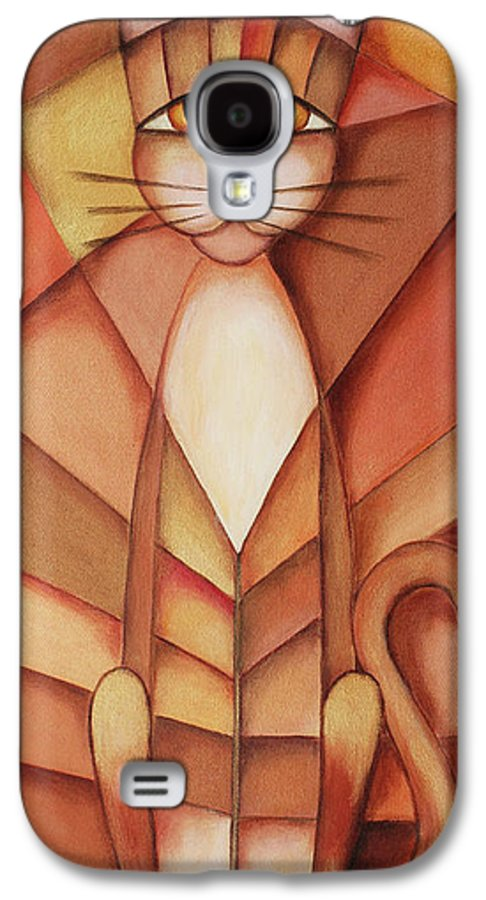 Paint Galaxy S4 Case featuring the painting King Of The Cats by Jutta Maria Pusl