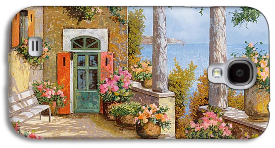 Terrace Galaxy S4 Case featuring the painting Le Colonne Sulla Terrazza by Guido Borelli