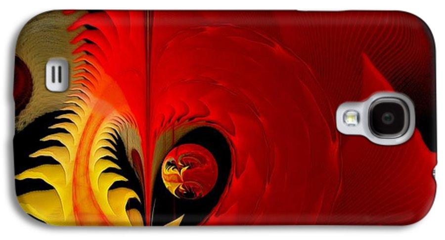 Fractal Galaxy S4 Case featuring the digital art Meditations Of Our Heart by Gayle Odsather