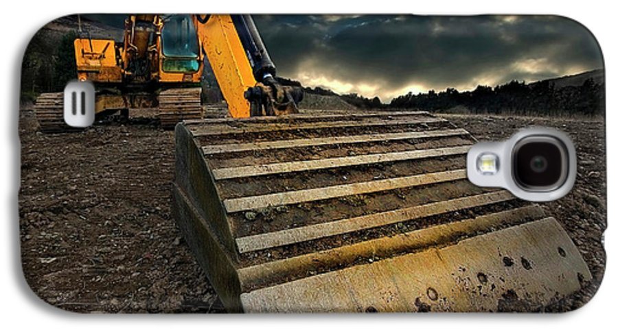Activity Galaxy S4 Case featuring the photograph Moody Excavator by Meirion Matthias