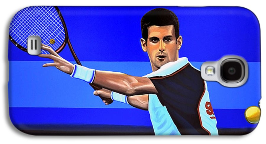 Novak Djokovic Galaxy S4 Case featuring the painting Novak Djokovic by Paul Meijering