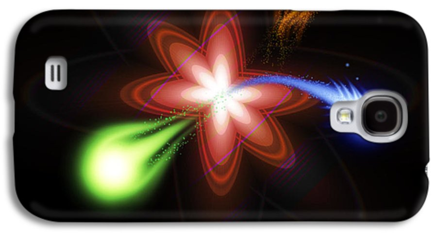 Abstract Galaxy S4 Case featuring the digital art Nuclear Energy by Anthony Caruso