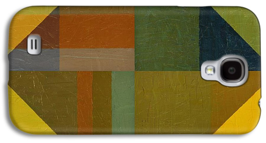 Abstract Galaxy S4 Case featuring the painting Perspective In Color Collage 8 by Michelle Calkins