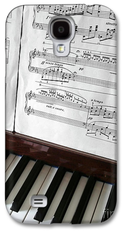 Acoustic Galaxy S4 Case featuring the photograph Piano Keys by Carlos Caetano