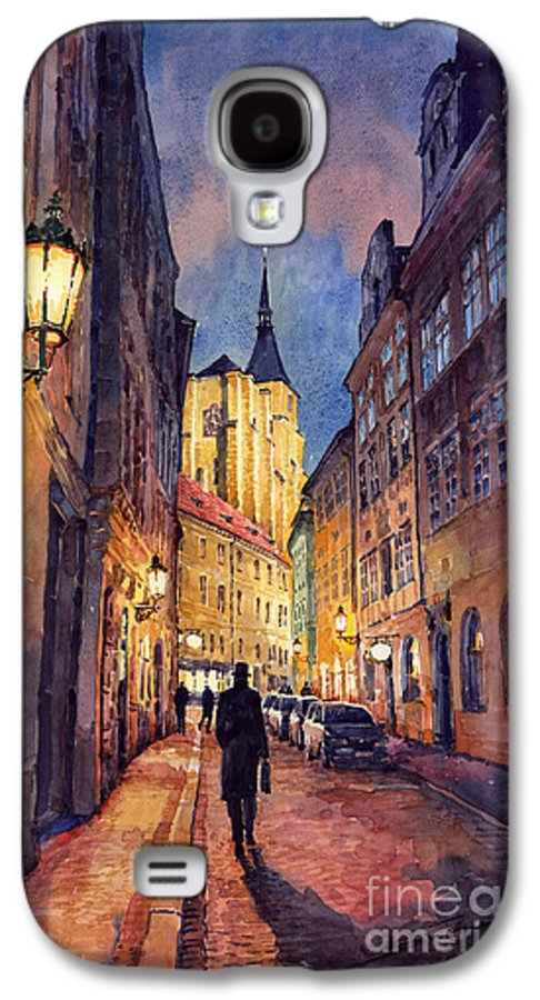 Architecture Galaxy S4 Case featuring the painting Prague Husova Street by Yuriy Shevchuk