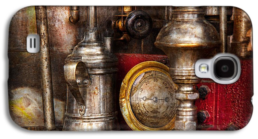 Hdr Galaxy S4 Case featuring the photograph Steampunk - Needs Oil by Mike Savad