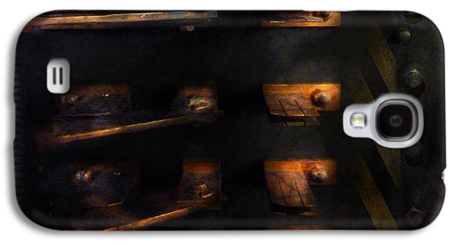 Hdr Galaxy S4 Case featuring the photograph Steampunk - Pull The Switch by Mike Savad