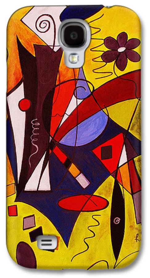 Abstract Galaxy S4 Case featuring the painting Step Lively Now by Ruth Palmer